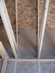 Attic insulation, baffles, and heel