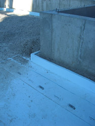 Rigid Foam Insulation along Footers