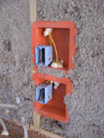 Infiltration Reduction Boxes around Electrical Outlets