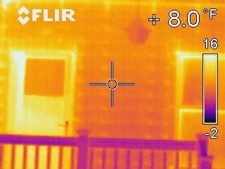 Infrared Thermal Image of Back Porch of REL