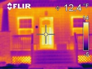 Infrared Image of Front of Neighbors House