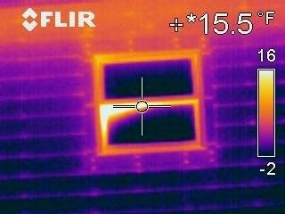 IR Image of Kitchen Window from Outside