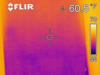 IR Image of Window with Shade Down and Blower Door Operating