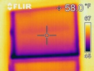 Infrared Image of Window Showing Leakage along Sash Joint