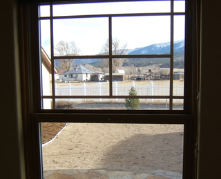 Visible Image of Double Hung Window with Shade Up