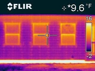 IR Image of Back Bedroom Windows