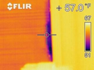 Infrared Image of Air Leak around Living Room Window